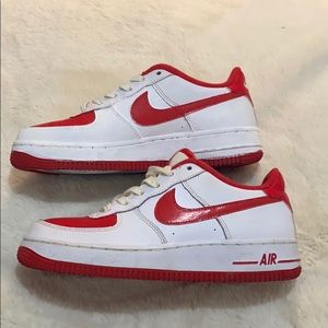Red/White Air Force 1s